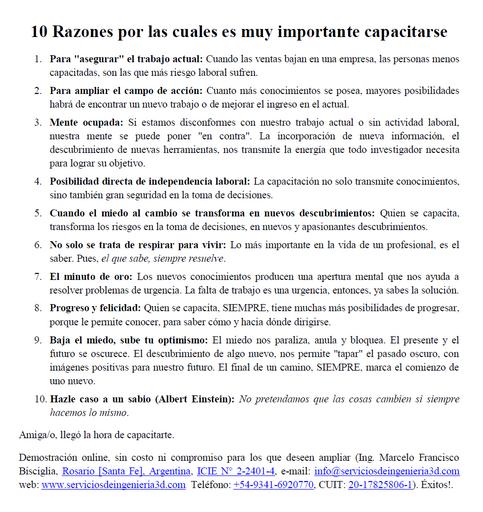 10 Razones por las cuales capacitarse