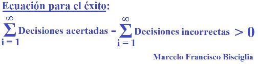 Mi ecuación para llegar al éxito